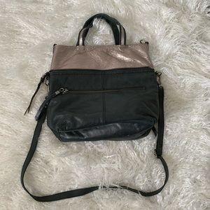 The Sak black convertible crossbody leather bag